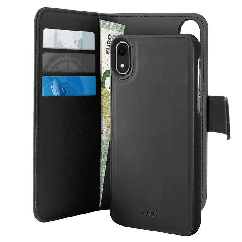 timeless design b63a9 7c7ba Puro 2-in-1 iPhone XR Detachable Wallet Case - Black
