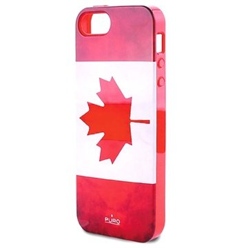 iPhone 5 / 5S / SE Puro Click-On Cover - Canada Flag