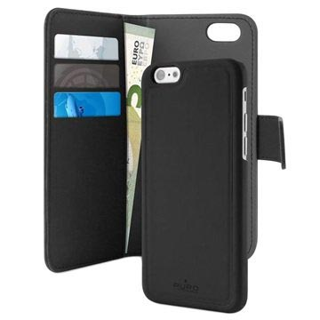 iPhone 7 / iPhone 8 Puro Detachable Wallet Case - Black