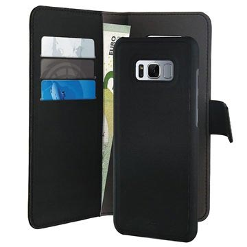 Samsung Galaxy S8 Puro Detachable 2-in-1 Wallet Case - Black