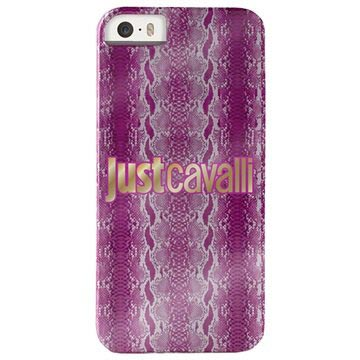 iPhone 5 / 5S / SE Puro Just Cavalli Shiny Python Hard Case - Pink