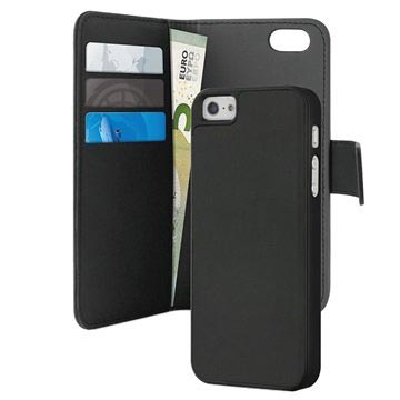 iPhone 5 / 5S / SE Puro Magnetic Wallet Case - Black