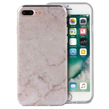 iPhone 6/6S/7/8 Plus Puro Marble Case - Pink