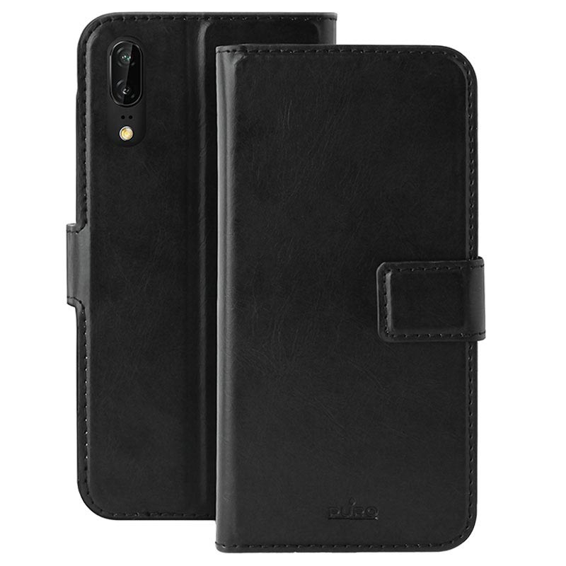 Huawei P20 Puro Milano Wallet Case with Stand - Black