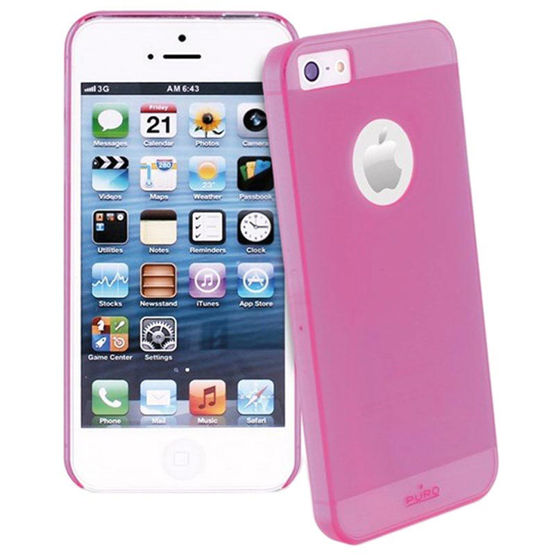 iPhone 5 / 5S / SE Puro Rainbow Hard Case - Pink