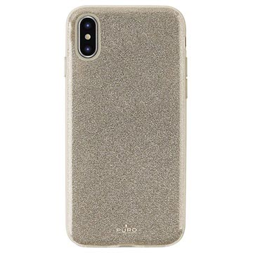 Puro Shine Glitter iPhone XS Max TPU Case - Gold