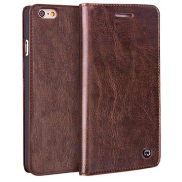 iPhone 6 / 6S Qialino Classic Wallet Leather Case - Brown