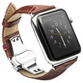 Apple Watch Series 5/4/3/2/1 Qialino Leather Wristband - 42mm, 44mm - Brown