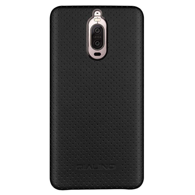 Huawei Mate 9 Pro, Mate 9 Porsche Design Qialino Mesh Leather Case - Black