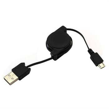 OTB Retractable USB / microUSB Cable - Black