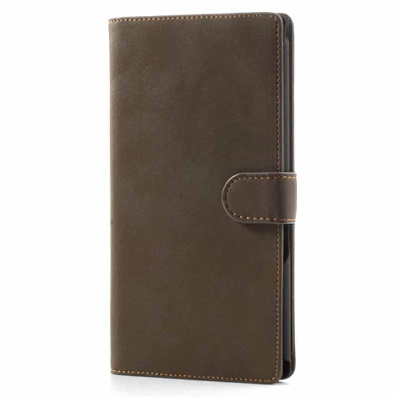 Sony Xperia Z Ultra Retro Wallet Case - Coffee