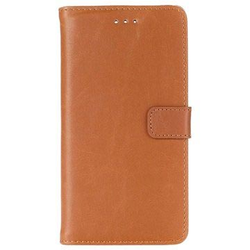 Huawei P9 Retro Wallet Case - Brown