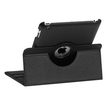 Rotary Leather Case - iPad 2, iPad 3, iPad 4 - Black