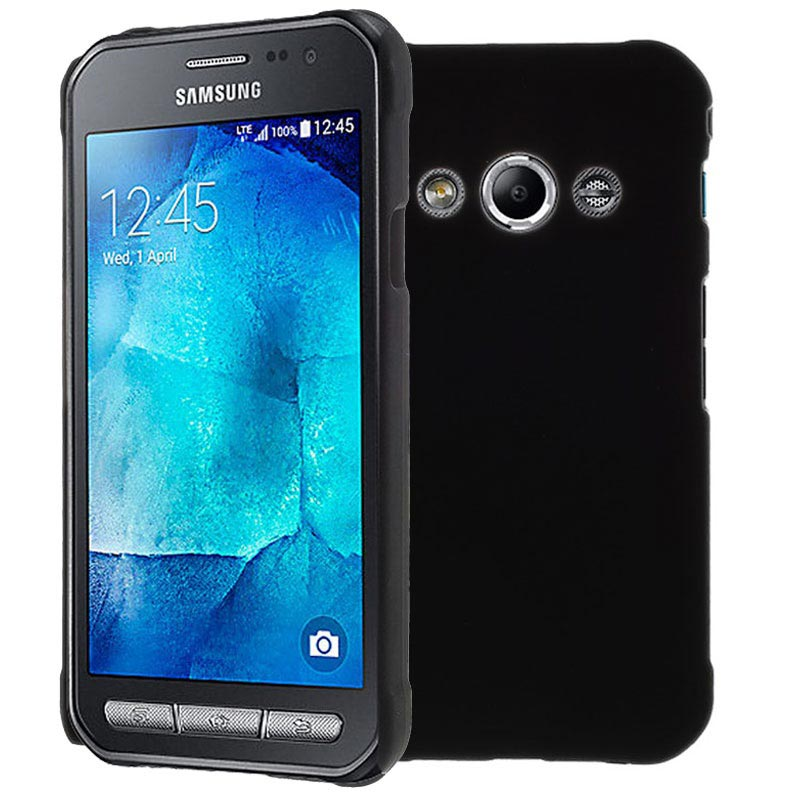 Cool Galaxy Xcover 3 Rubberized Hard Case Black