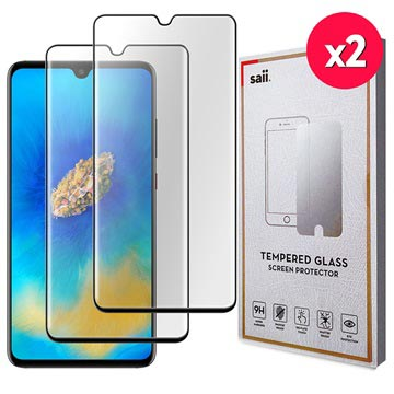 Saii 3D Premium Huawei Mate 20 Tempered Glass Screen Protector - 2 Pcs.