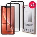 Saii Premium 3D iPhone XR Tempered Glass - 9H, 0.33mm - 2pcs