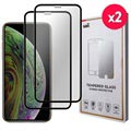 Saii 3D Premium iPhone XS Tempered Glass - 9H, 2 Pcs.