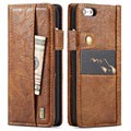 iPhone 6 Plus/6S Plus Saii Retro Multi-slot Wallet Case - Brown
