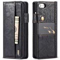 iPhone 7 / iPhone 8 Saii Retro Multi-slot Wallet Case - Black
