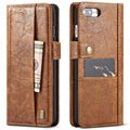 iPhone 7 Plus / iPhone 8 Plus Saii Retro Multi-Slot Wallet Case - Brown