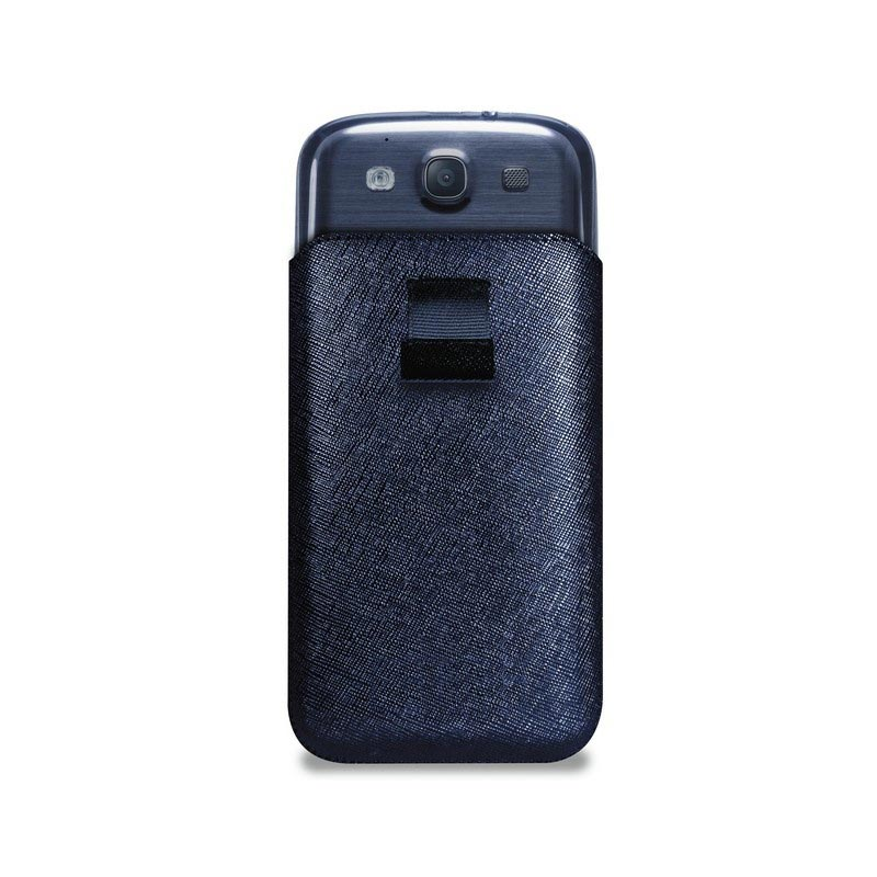 Samsung Galaxy S3 i9300 Puro Slim Essential Leather Pouch - Blue