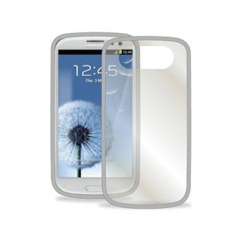 Samsung Galaxy S3 i9300 Puro Click-On Cover - Transparent / Grey