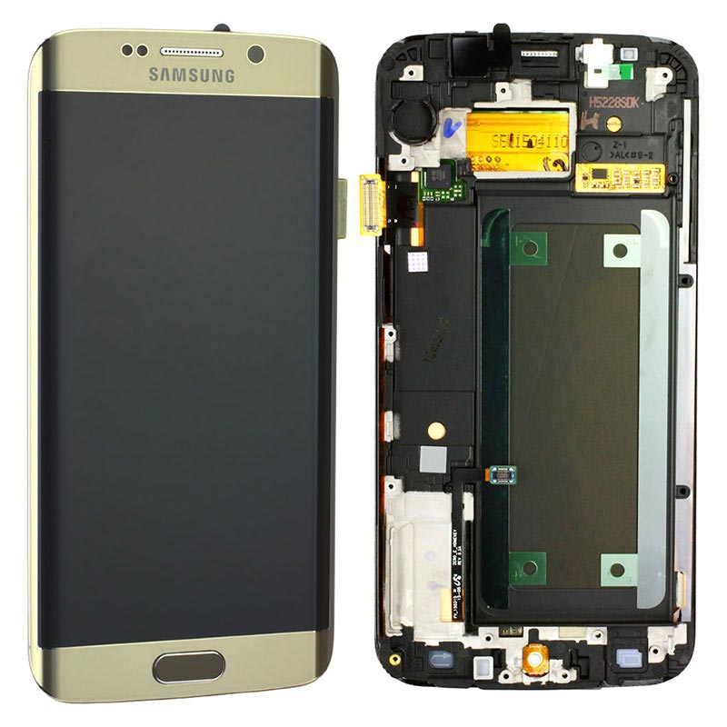 Samsung Galaxy S6 Edge Front Cover & LCD Display GH97-17162C - Gold