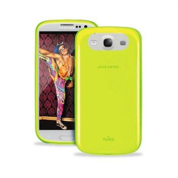 Samsung Galaxy S3 i9300 Puro Crystal Click-On Cover - Fluo Green