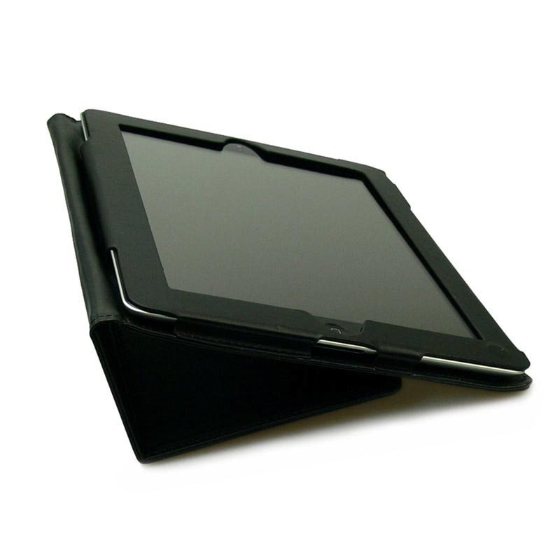 Sandberg Leather Stand Case - iPad 2, iPad 3, iPad 4 - Black