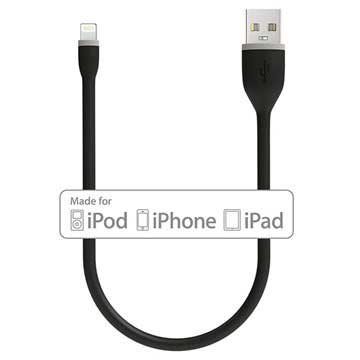 Satechi Flexible MFi Certified Lightning Cable - 25cm - Black
