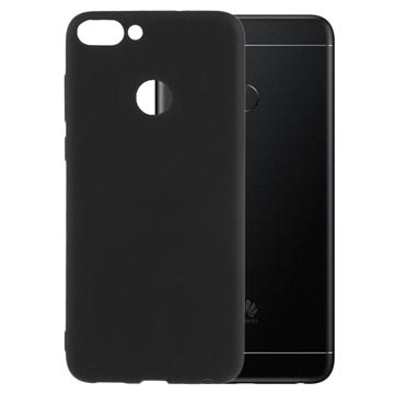 Huawei P Smart Flexible Matte Silicone Cover - Black