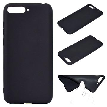 Huawei Y6 (2018) Silicone Case - Flexible and Matte - Black