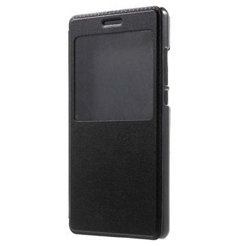 Huawei P8 Lite View Folio Case - Black