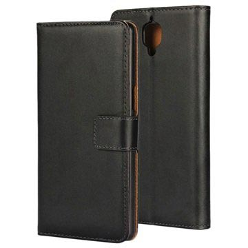 OnePlus 3/3T Slim Wallet Leather Case - Black