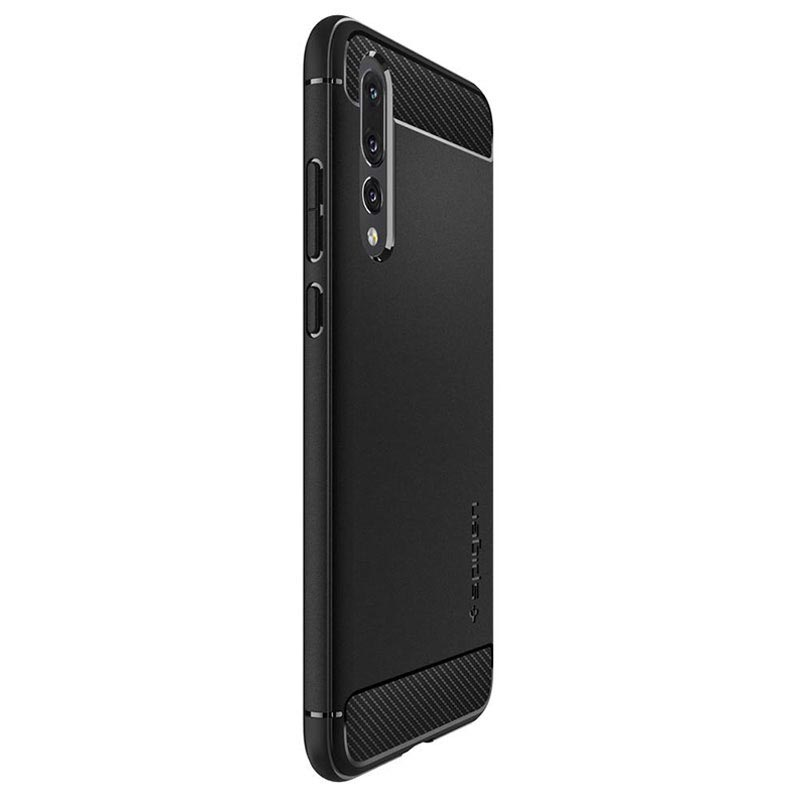 Spigen Rugged Armor Huawei P20 Pro Cover - Matte Black