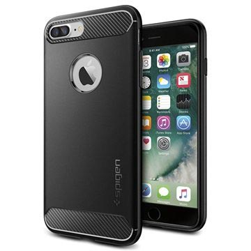 iPhone 7 Plus / iPhone 8 Plus Spigen Rugged Armor Case - Black