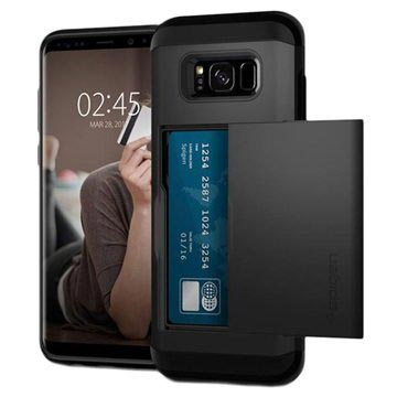 buy popular bc2d6 57260 Samsung Galaxy S8 Spigen Slim Armor CS Case - Black