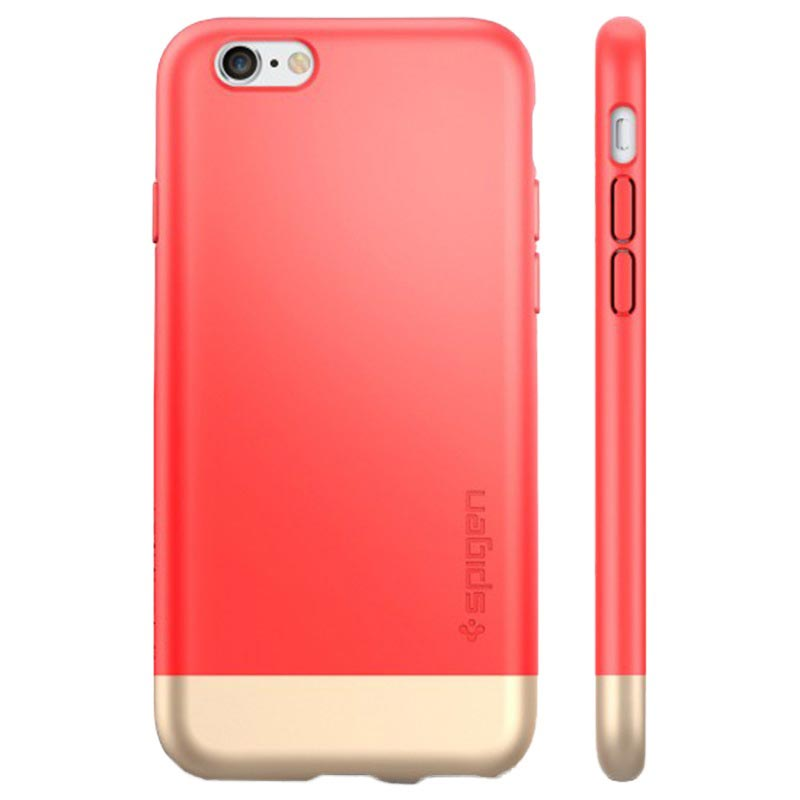 iPhone 6 Plus / 6S Plus Spigen Style Armor Case - Italian Rose