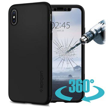 Spigen Thin Fit 360 iPhone X / iPhone XS Case - Black