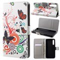 Style Series Huawei P20 Pro Wallet Case - Butterflies / Circles