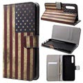 Style Series Huawei P20 Pro Wallet Case - Vintage American Flag