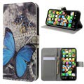 iPhone X / iPhone XS Style Series Wallet Case - Blue Butterfly
