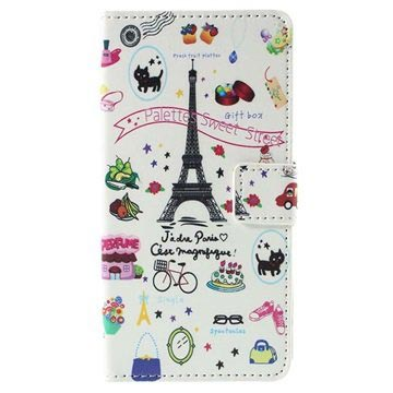 Huawei Honor 7 Stylish Wallet Case - Paris