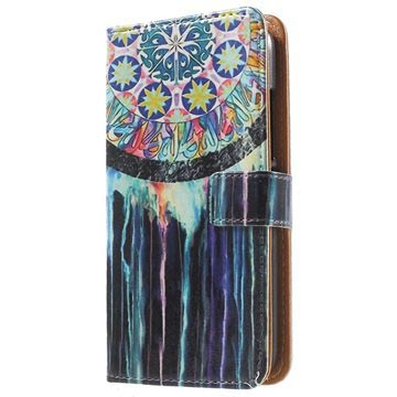 Huawei Y360 Stylish Wallet Case - Dreamcatcher Painting