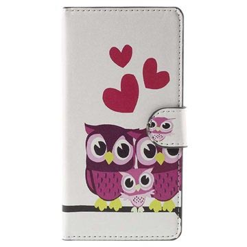 Huawei P8 Lite Stylish Wallet Case - Owl Family