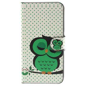Samsung Galaxy J5 (2015) Stylish Wallet Case - Owl