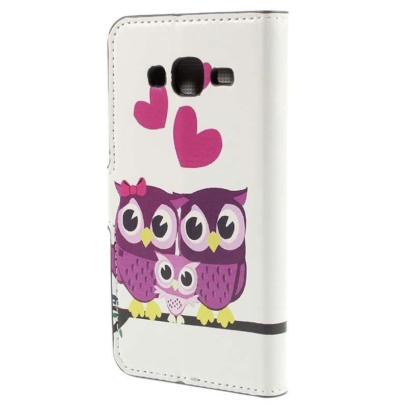 Samsung Galaxy J5 (2015) Stylish Wallet Case - Owl Family