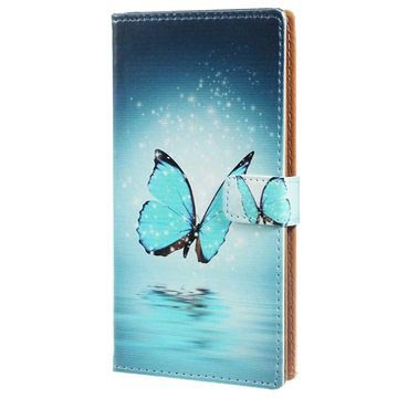 Huawei P9 Lite Stylish Wallet Case - Blue Butterfly