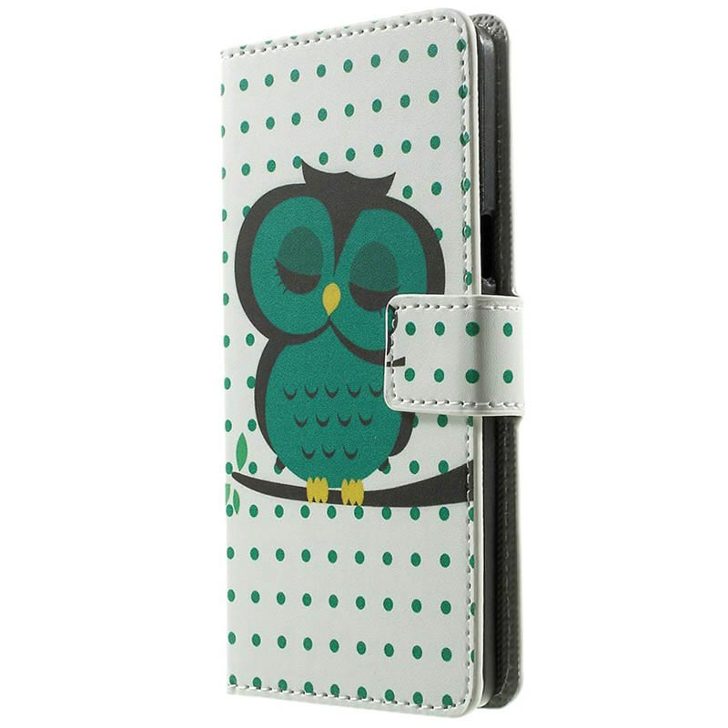 Samsung Galaxy A5 (2015), A5 Duos (2015) Stylish Wallet Leather Case - Owl