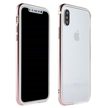 iPhone X Sulada Ultra Thin TPU Bumper - Rose Gold